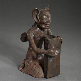 CHINESE BRONZE FIGURE, QIN DYNASTY