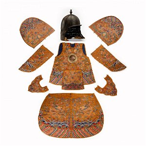 CHINESE KESI BATTLE ARMOR AND DRAGON ROBE, QING DYNASTY