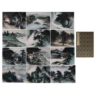 CHINESE CALLIGRAPHY AND PAINTING ALBUM 'LANDSCAPE'