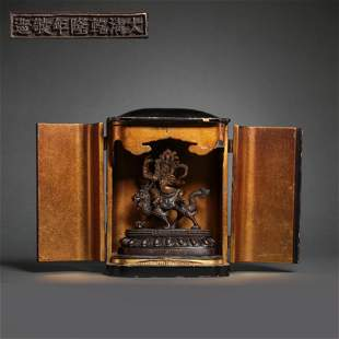 CHINESE GILT BRONZE BUDDHA STATUE, QIANLONG PERIOD,