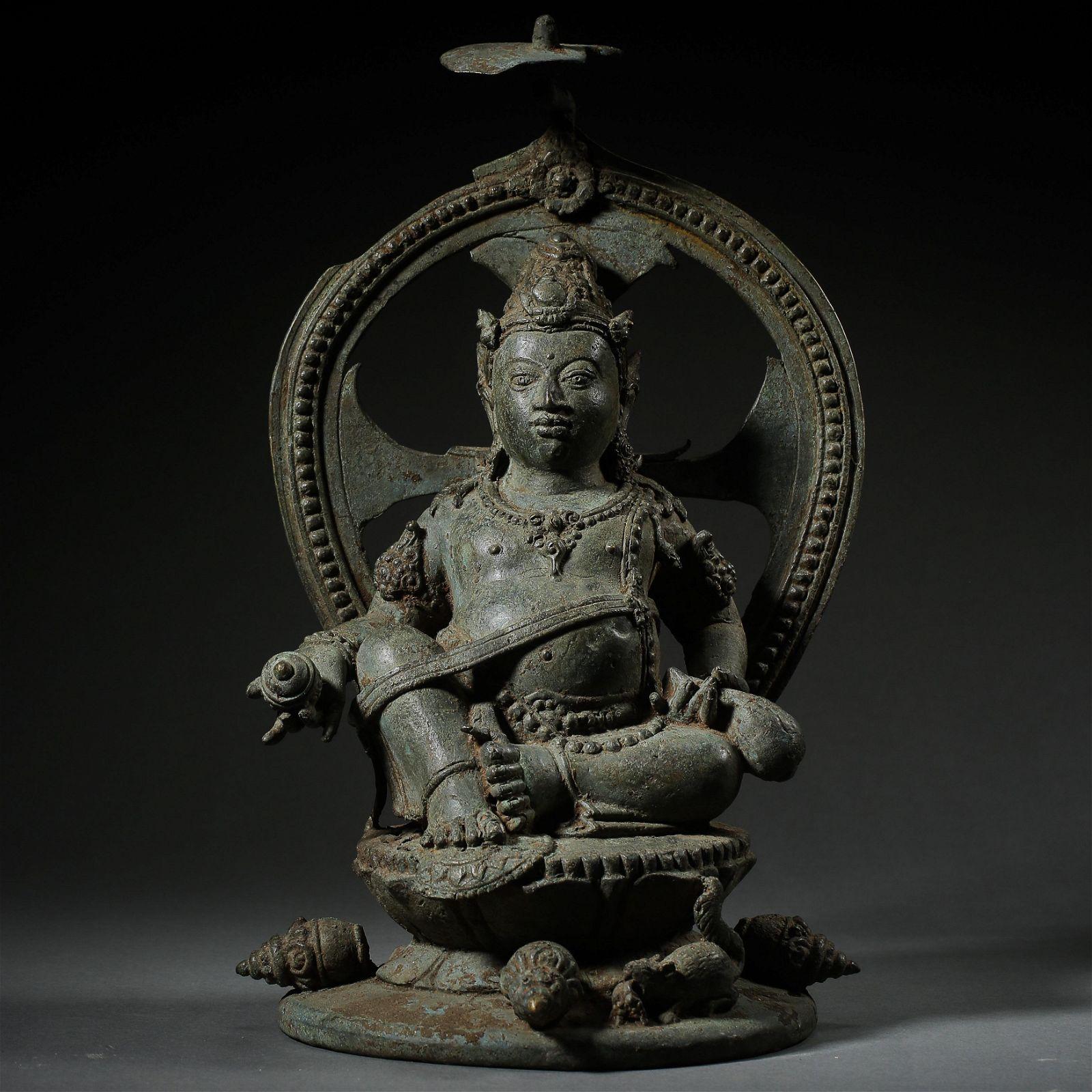 ANCIENT INDIA BRONZE BUDDHA STATUE