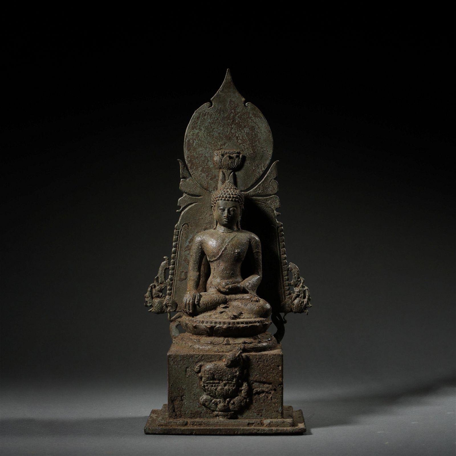 ANCIENT BRONZE BUDDHA STATUE IN INDIA