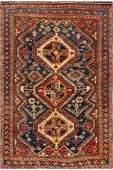 Vintage Persian Hand-Knotted Qashgaie Tribal Rug