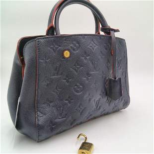 Louis Vuitton - Montaigne MM, Emprinte treated Leather