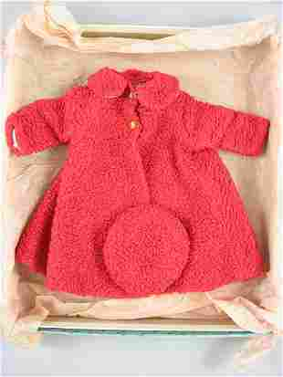 """BOXED COAT AND BERET FOR 18"""" ALEXANDER DOLL"""