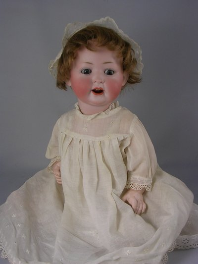 "9E: 19"" K&H GERMAN BISQUE HEAD CHARACTER BABY"