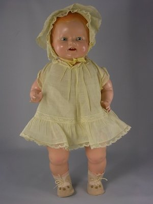 """1: 17"""" COMPOSITION CHUCKLES TODDLER BY CENTURY DOLLS"""