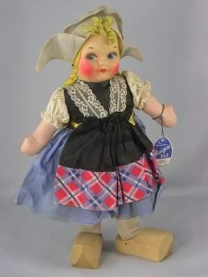 """13"""" CLOTH DUTCH GIRL BY GEORGENE AVERILL"""