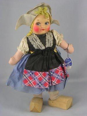 """13: 13"""" CLOTH DUTCH GIRL BY GEORGENE AVERILL"""