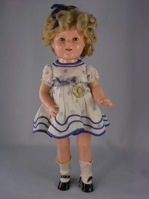 """19: 17"""" COMPO SHIRLEY TEMPLE PROTOTYPE DOLL BY IDEAL"""