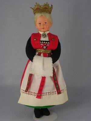 """115: 12"""" CELLULOID COSTUME DOLL"""