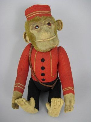 """14"""" SCHUCO YES/NO MONKEY GERMAN MOHAIR TOY"""