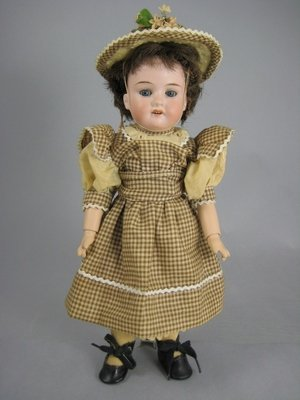 "1: 13"" A.M. 390 GERMAN BISQUE SOCKET HEAD DOLL"
