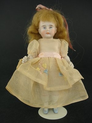 """424: 6"""" EARLY GERMAN ALL BISQUE DOLL MARKED 2120"""
