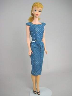 """#4 PONYTAIL BARBIE IN """"SHEATH WITH GOLD BUTTONS"""""""