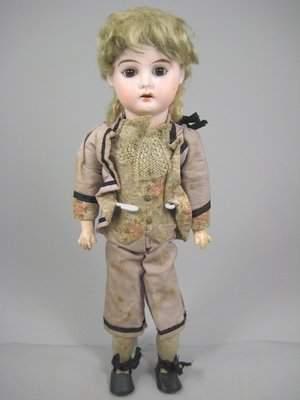 """13 1/2"""" ERNST HEUBACH GERMAN BISQUE HEAD CHILD"""