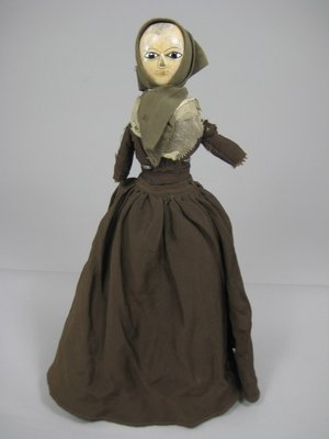 """61: 12"""" SO-CALLED QUEEN ANNE WOODEN DOLL"""