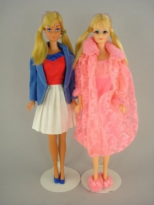 606: TWO P.J.s IN LOVELY SLEEP-INS, GOLD MEDAL BARBIE