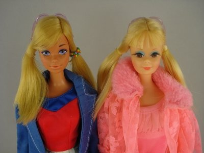 606: TWO P.J.s IN LOVELY SLEEP-INS, GOLD MEDAL BARBIE - 2