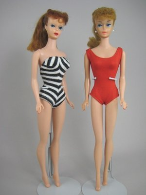 611: TWO #5 PONYTAIL BARBIES IN ORIGINAL SWIMSUITS