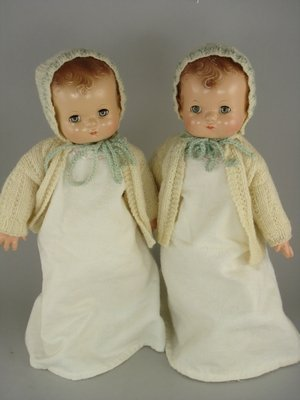 """9: PAIR OF 13"""" COMPOSITION PATSY BABIES BY EFFANBEE"""