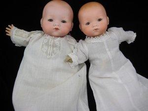 "11: PAIR OF ""DREAM BABY"" TYPE GERMAN BISQUE INFANTS"