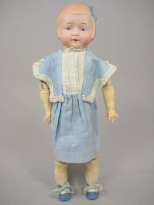 """11"""" GERMAN CHARACTER CHILD MARKED 1900"""