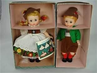 "8"" TYROLEAN GIRL & BOY BY ALEXANDER"