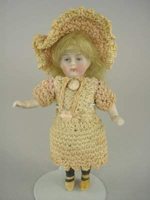 """3 1/2"""" ALL BISQUE DOLL"""