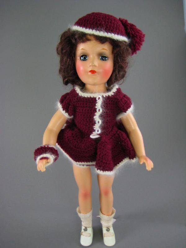 "14"" COMPOSITION MARY HOYER DOLL"