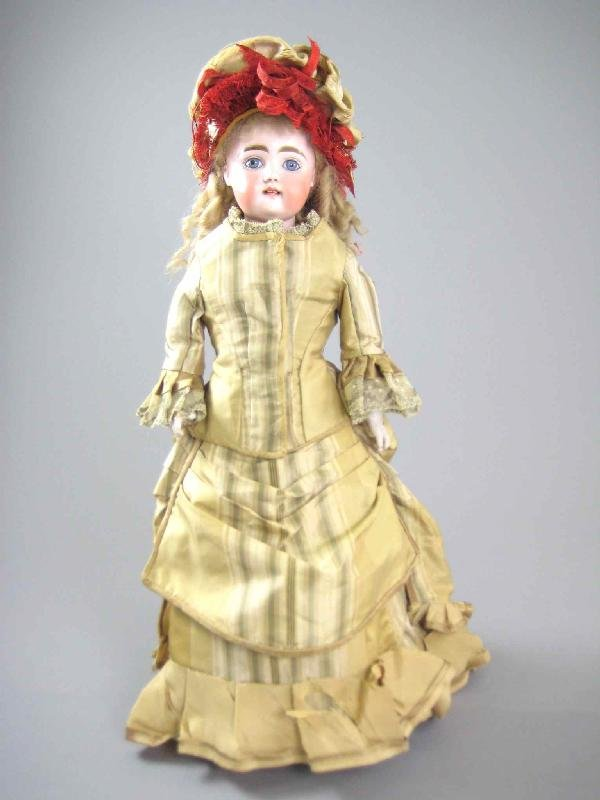 "17"" BISQUE HEAD MYSTERY DOLL"