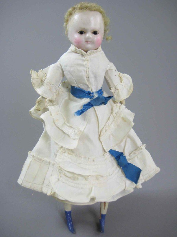 "10"" ALL ORIGINAL WAX-OVER DOLL"