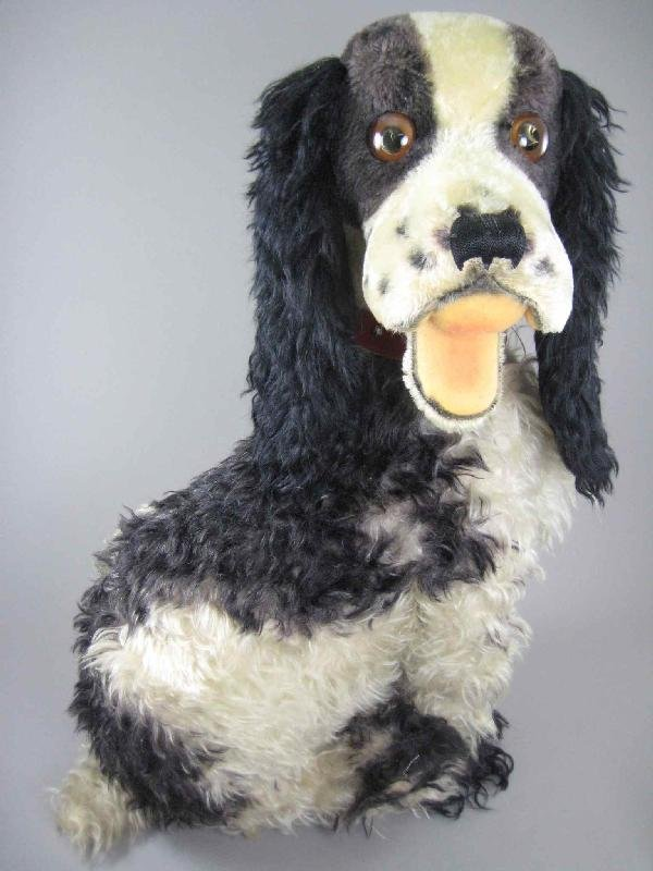 "28"" STEIFF 1950s STUDIO DOG WITH BUTTON AND TAG"