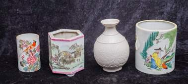 A set of Chinese ancient porcelain vases