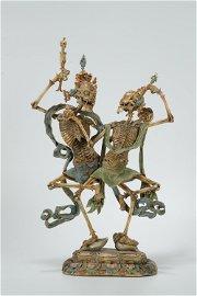 Qing dynasty, bone carved Shri Chitipati
