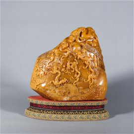 Tianhuang soapstone carved seal