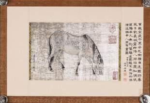 A Chinese horse painting, Li Gonglin mark