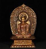 Bronze Gilt Shakyamuni Ming Style