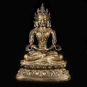chinese gilt-bronze buddha statue