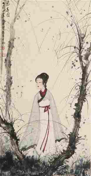 chinese fu baoshi's figure painting