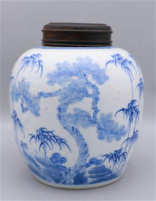 chinese Blue and white procelain jar