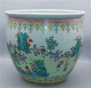 chinese famille rose porcelain large jar