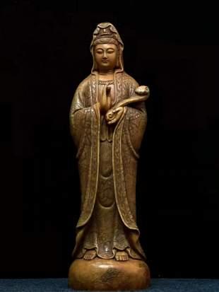Laoling stone Ruyi Guanyin Buddha in Shoushan, China