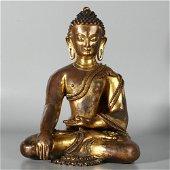 Chinese gilt cuprum statue of Sakyamuni Buddha