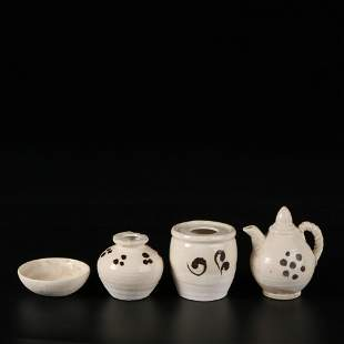 a group of chinese dangyang valley kiln vases