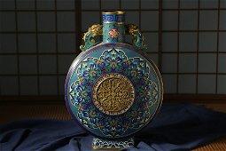 Qing dynasty, Qian long style, cloisonne double ears