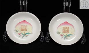 A pair of Qing Yongzheng style famille rose porcelain
