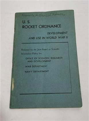 US Rocket Ordnance WW2 Scientific Research Navy