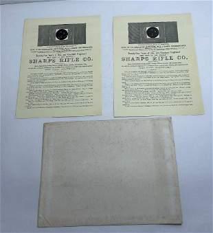 Lot of 2 Original Sharps Rifle Co. Catalog Flier