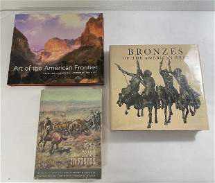 Lot of 3 Books Western Art Bronzes Russell